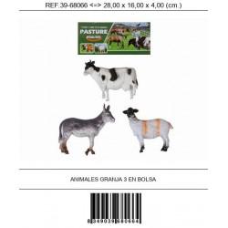 ANIMALES GRANJA 3 EN BOLSA